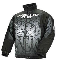 Arctic Cat Men's Tiger Attack Snowmobile / Winter Jacket - Black 5240-26* #winter #jacket #black #snowmobile #attack #mens #tiger #arctic