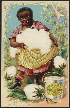 I can guarantee that no enslaved person was happy picking cotton. Vintage Labels, Vintage Cards, Vintage Postcards, Vintage Food, Boston Public Library, Black Artwork, Wow Art, African American History, Vintage Advertisements