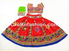 Navratri Mirror Work Pom Pom Garba Dance Wear Chaniya Choli #DesignerLehengaCholi #NavratriChaniyaCholi #GarbaDress #GujaratiTradition #KutchEmbroidery #MirrorWork #DandiyaDanceCostume #SanedoStyle