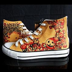 "Can I have a pair of these ""Halloween Pumpkins"" High-Top Sneakers, from YesStyle.com?  My birthday is Friday the 13th.  Perfect gift, honey!"