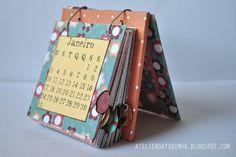 Diy Paper, Paper Crafts, Diy Agenda, Calendar Design, Scrapbook Albums, Bookbinding, Mini Albums, Diy Gifts, Diy And Crafts