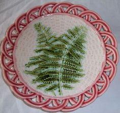Mint Antique Sarreguemines Fern Plate | eBay