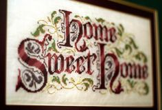free cross stitch samplers | Home Sweet Home – Cross-Stitch Sampler