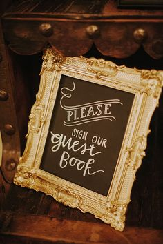 Please sign our guest book sign @weddingchicks