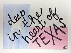 deep in the heart of Texas watercolor painting by paintsANDpaper, $15.00