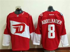 Detroit Red Wings Justin ABDELKADER #8 Red 2016 Stadium Series Stitched Jersey