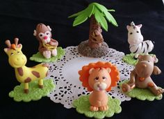 Jungle Decorations For Baby Shower, Safari Birthday Party Decorations, Jungle Baby Shower, Baby Boy Shower, Baby Shower Themes for Boys Girls - Cake Toppers Boutique  - 4