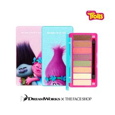 THE FACE SHOP DreamWorks Trolls Mono Pop Eyes Shadow 8Colors Palette 9.5g Korea  #THEFACESHOP