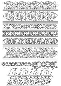Thai Pattern, Pattern Art, Egyptian Drawings, Thai Design, Thailand Art, Decorative Lines, Mehndi Style, Graph Paper Art, Tibetan Art
