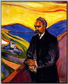 """We have art in order not to die of the truth"" Friedrich Nietzsche Image: Friedrich Nietzsche by Edvard Munch"