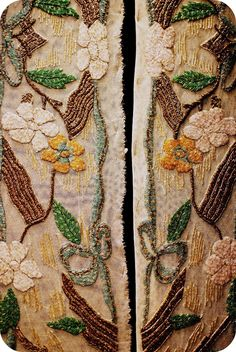 Beadwork at LACIS. MUSEUM OF LACE & TEXTILES, SAN FRANCISCO