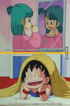 Classic Dragon Ball humor.