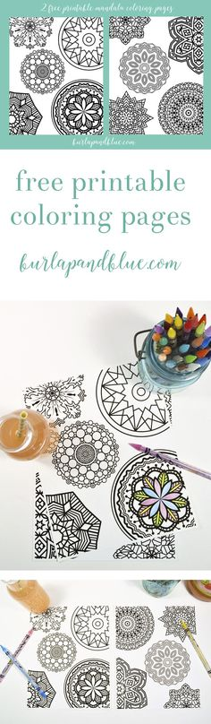 free printable mandala coloring pages! the perfect way to relax with some free adult coloring pages! #ad #SnappleRollback
