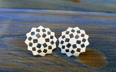 Mashrabiya Sterling Silver Stud Earrings. by #NoaSharonDesigns $79