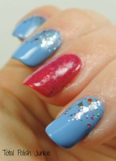 Total Polish Junkie: Orly Snowcone with some fun glitter!