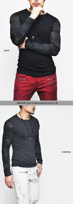 Re) Runway Edge Elastic Bandage Strap-Tee 144 - GUYLOOK