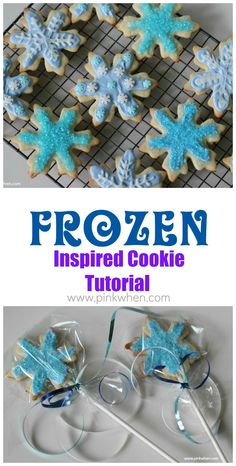 'FROZEN' Elsa Inspired Cookie Tutorial - with quick video on how easy it is to make these.
