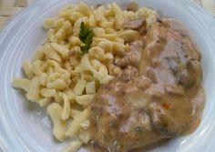 Risotto, Macaroni And Cheese, Chicken, Meat, Ethnic Recipes, Food, Mac And Cheese, Eten, Meals
