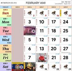 Kalendar 2020 Cuti Umum Dan Cuti Sekolah Malaysia Calendar Themes, Printable Blank Calendar, Monthly Calendar Template, Photo Calendar, Yearly Calendar, Calendar 2020, Calendar Design, Creative Calendar, Marketing Calendar