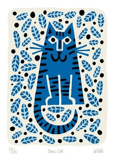 (via Blue Cat by Lo Cole Limited Edition Archival by imaginarypress)