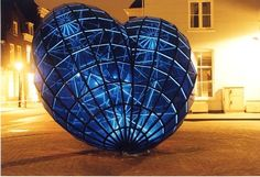 Blue heart in the center of Delft