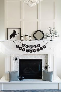 3 Ways to Decorate a Mantel For Halloween http://www.diynetwork.com/how-to/make-and-decorate/entertaining/3-ways-to-decorate-a-fireplace-mantel-for-halloween-pictures >>