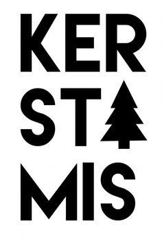 Kerstmis | zwart wit kerstkaart