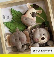 Easy DIY Felt Crafts, Felt Crafts Patterns and Heartily Felt Crafts Leyland. Baby Crafts, Felt Crafts, Diy And Crafts, Crafts For Kids, Simple Crafts, Wood Crafts, Sewing Crafts, Sewing Projects, Do It Yourself Baby