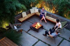 Top 50 Best Patio Firepit Ideas Glowing Outdoor Space Designs is part of Backyard seating - Savor the precious glow of the summer with the top 50 best patio firepit ideas Explore unique backyard layouts and glowing outdoor space designs Backyard Layout, Backyard Seating, Backyard Patio Designs, Small Backyard Landscaping, Garden Seating, Paved Backyard Ideas, Fire Pit Seating, Modern Landscaping, Outdoor Seating