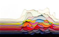 Maud Vantours's colorful 3D paper sculptures