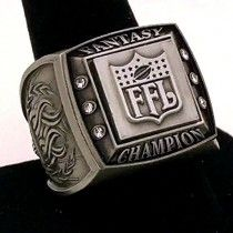 Fantasy Football Champion Ring / Gold / Silver / FFL Championship Winner