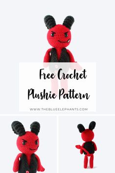 This is Damian the Devil, an adorable little plushie pattern to make this Halloween! This pattern uses simple stitches and it's free! Free Crochet, Crochet Hats, Halloween Crochet Patterns, Plushie Patterns, Food Gifts, Plushies, Holiday Crafts, Crochet Projects, Free Pattern