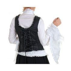 Victorian Inspired Black Tank waistcoat. (Back View)  Crazyinlove.