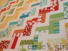 Scrappy zig zag with instructions | elsies girl