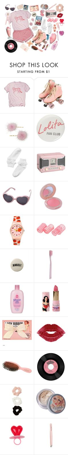"""rollerskating lolita"" by pixiekeen ❤ liked on Polyvore featuring Moxi, Monki, Paul & Joe, American Eagle Outfitters, Paul Smith, Johnson's Baby, Mason Pearson, Forever 21, Hahn and TheBalm"