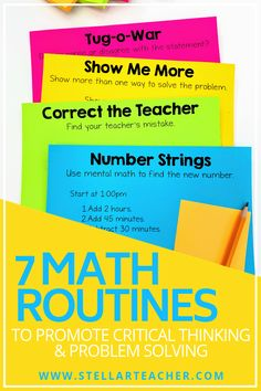 7 Stellar Routines to Start Your Math Block — The Stellar Teacher Co. 7 Stellar Routines to Start Your Math Block — The Stellar Teacher Co. Math Teacher, Math Classroom, Teaching Math, Classroom Ideas, Teacher Stuff, Teaching Ideas, Teaching Measurement, Classroom Routines, Kindergarten Math