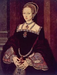 Catherine Parr? See Being Bess: September 5th, 1548: The Death of Katherine Parr. Note the jewellery.