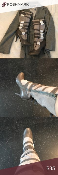 Heather Grey High Heel Boots Heather Grey High Heel Boots. Super comfortable and very stylish! Size 8. BRAND NEW. NEVER WORN.🛑I only ship boots. I do not ship Shoe Box.🛑 Shoes Heeled Boots