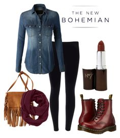 """""""The New Bohemian with American Eagle Outfitters: Contest Entry"""" by taliyahhh ❤ liked on Polyvore featuring LE3NO, Dr. Martens, American Eagle Outfitters, Athleta and aeostyle"""