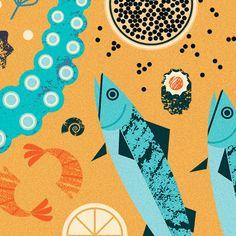 Food Posters - Maizle Illustration