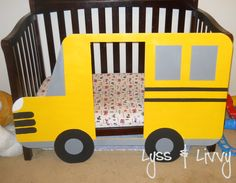 Bus toddler bed! I totally think this should be my husband's next project....can we some how turn this into a tractor? maybe a truck?hmm