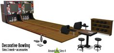 Around The Sims 4: Bowling set • Sims 4 Downloads  Check more at…