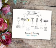 Ensure your wedding day runs smoothly by creating a wedding day itinerary!   Wedding Day Timeline   Printable Wedding Timeline   Bridesmaids Itinerary   Groomsmen Itinerary   Wedding Party Timeline   Wedding Organization   Day of Wedding Timeline   Tips to Stay Organized on Wedding Day