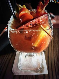 Eat Your Way Drinks - Photo from Brick & Spoon, The Big Spoon Bloody Mary!  Orange Beach, AL