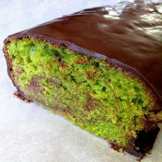 Chocolate pistachio cake by Laurent Jeannin.