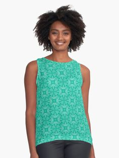 """Mint Leaf #1"" Sleeveless Top by Kettukas 