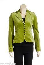 Laundry by Shelli Segal Green Velvet Button Down Jacket (Size 2)