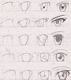 How to draw anime eyes step by step for beginners easy anime eyes picture manga tutorial Easy Anime Eyes, How To Draw Anime Eyes, Manga Eyes, Anime Eyes Drawing, Draw Eyes, Manga Mouth, Simple Anime, Anime Drawings Sketches, Pencil Art Drawings