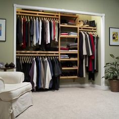 I'm thinking that our closet will eventually look something like this...