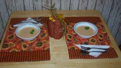 Decorate your table at Thanksgiving time with these nice handmade quilted placemats.